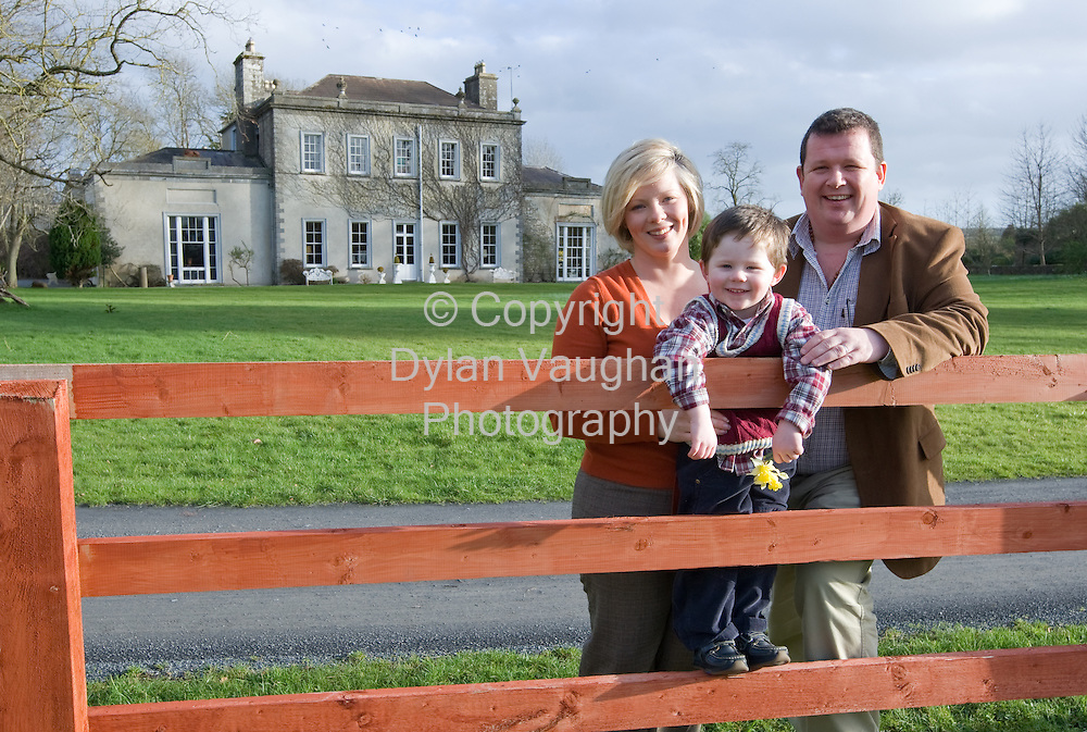 26/1/2008.John and Margaret Casey pictured with their son Harry at Kilmurray house in Thomastown, County Kilkenny..Picture Dylan Vaughan.