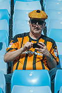 A Hull City fan takes his seat prior to the Sky Bet Championship match at Villa Park, Birmingham<br /> Picture by Matt Wilkinson/Focus Images Ltd 07814 960751<br /> 05/08/2017