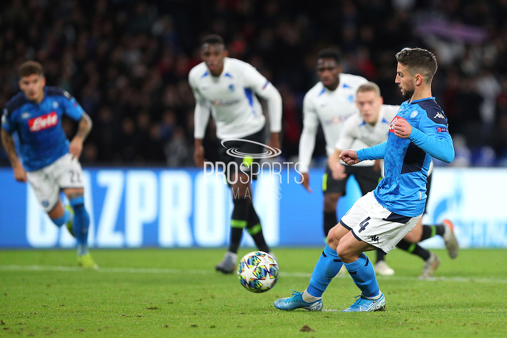 Dries Mertens of Napoli scores 4-0 goal by penalty during the UEFA Champions League, Group E football match between SSC Napoli and KRC Genk on December 10, 2019 at Stadio San Paolo in Naples, Italy - Photo Federico Proietti / ProSportsImages / DPPI