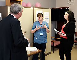 Scottish Labour leader Richard Leonard and Health spokesperson Monica Lennon met with midwives in NHS Lanarkshire, ahead of a Scottish Labour debate which calls on the SNP Government to invest an additional &pound;10 million for the implementation of Best Start and to investigate claims that midwives are not being given sufficient resources to do their jobs.<br /> <br /> Scottish Labour will use parliamentary time this week to call on the SNP Government to investigate reports that midwives do not have enough resources to do their jobs safely.<br /> <br /> Concerns have been raised in an open letter by midwives in NHS Lothian, which claim they do not have enough computers, equipment and pool cars.<br /> <br /> Scottish Labour have also called for an additional &pound;10 million to be allocated towards the implementation of the Best Start recommendations, to ensure that midwives are given adequate time, training and resources.<br /> <br /> Scottish Labour Health Spokesperson Monica Lennon said:<br /> <br /> &ldquo;Midwives play a crucial role in caring for women and babies. The best way of recognising their contribution to our NHS is by making sure they have enough resources to do their jobs safely.<br /> <br /> &ldquo;That&rsquo;s why Scottish Labour is calling on the SNP Government to investigate reports about a lack of equipment and resources, and to provide an additional &pound;10 million towards the implementation of the Best Start recommendations.<br /> <br /> &ldquo;The Health Secretary must listen to the concerns of midwives and take urgent action to address the workforce crisis.&rdquo;<br /> <br /> Pictured: Richard Leonard and Monica Lennon chat to bereavement specialist midwife Vicky Grove <br /> <br /> Alex Todd | Edinburgh Elite media