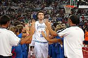 DESCRIZIONE : Roma Amichevole preparazione Eurobasket 2007 Italia Grecia <br /> GIOCATORE : Andrea Bargnani<br /> SQUADRA : Nazionale Italia Uomini <br /> EVENTO : Amichevole preparazione Eurobasket 2007 Italia Grecia <br /> GARA : Italia Grecia <br /> DATA : 30/08/2007 <br /> CATEGORIA : Ritratto<br /> SPORT : Pallacanestro <br /> AUTORE : Agenzia Ciamillo-Castoria/G.Ciamillo