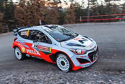 14.01.2014, Shakedownstrecke, Monte Carlo, FRA, FIA, WRC, Rallye Monte Carlo, Shakedown, im Bild SORDO Daniel / MARTI Marc ( Hyundai Motorsport (GER) / Hyundai i20 ) // during the Shakedown of FIA Rallye Monte Carlo held near Monte Carlo, France on 2014/01/14. EXPA Pictures © 2014, PhotoCredit: EXPA/ Eibner-Pressefoto/ Neis<br /> <br /> *****ATTENTION - OUT of GER*****