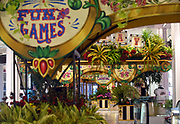 Floral gardens are on display at Carnival, the 43rd Annual Macy's Flower Show, at Macy's Herald Square in New York, Sunday, March 26, 2017.  The show runs through Sunday, April 9 and is free to the public.  (Photo by Diane Bondareff/AP Images for Macy's Inc.)