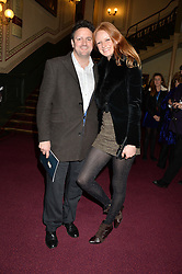 OLIVIA INGE and PETER DAVIES at the opening night of Cirque du Soleil's award-winning production of Quidam at the Royal Albert Hall, London on 7th January 2014.