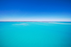 Sandbanks just underwater in Roebuck Bay.
