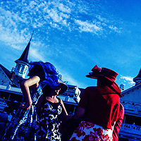 LOUISVILLE, KY - May 7, 2016 -- The Kentucky Derby shot on expired film.  (PHOTO / CHIP LITHERLAND)