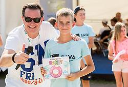 Rado Mulej at Kids Day during Day 7 at ATP Challenger Zavarovalnica Sava Slovenia Open 2018, on August 9, 2018 in Sports centre, Portoroz/Portorose, Slovenia. Photo by Vid Ponikvar / Sportida