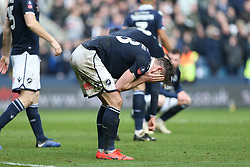 Ryan Leonard of Millwall is dejected after Brighton score to make it 2-2 - Mandatory by-line: Arron Gent/JMP - 17/03/2019 - FOOTBALL - The Den - London, England - Millwall v Brighton and Hove Albion - Emirates FA Cup Quarter Final