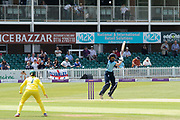 WICKET -  Jones top edges Ellyse Perry and is caught during the Royal London Women's One Day International match between England Women Cricket and Australia at the Fischer County Ground, Grace Road, Leicester, United Kingdom on 2 July 2019.