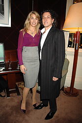 STEPHEN & ASSIA WEBSTER at a party to celebrate the publication of Top Tips For Girls by Kate Reardon held at Claridge's, Brook Street, London on 28th January 2008.<br />