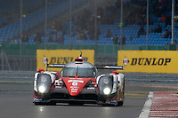 Stephane Sarrazin (FRA) / Mike Conway (GBR) / Kamui Kobayashi (JPN) #6 Toyota Gazoo Racing Toyota TS050 Hybrid, during Quailifying  as part of the WEC 6 Hours of Silverstone 2016 at Silverstone, Towcester, Northamptonshire, United Kingdom. April 16 2016. World Copyright Peter Taylor.