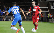 Bryan Van Den Bogaert on the move during the Capital One Cup match between Peterborough United and Crawley Town at London Road, Peterborough, England on 11 August 2015. Photo by Michael Hulf.