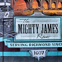 Mighty James River Mural in Richmond, Virginia<br />