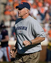 Virginia head coach Al Groh..The Virginia Cavaliers defeated the Connecticut Huskies 17-16 at Scott Stadium in Charlottesville, VA on October 13, 2007