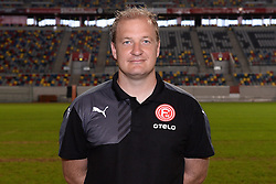 02.07.2015, Esprit Arena, Duesseldorf, GER, 2. FBL, Fortuna Duesseldorf, Fototermin, im Bild Athletiktrainer Florian Klausner ( Fortuna Duesseldorf / Portrait ) // during the official Team and Portrait Photoshoot of German 2nd Bundesliga Club Fortuna Duesseldorf at the Esprit Arena in Duesseldorf, Germany on 2015/07/02. EXPA Pictures &copy; 2015, PhotoCredit: EXPA/ Eibner-Pressefoto/ Thienel<br /> <br /> *****ATTENTION - OUT of GER*****