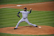 The Seattle Mariners defeated the Cleveland Indians 7-2 on April 29, 2008 at Progressive Field in Cleveland..Relief pitcher Arthur Rhodes of Seattle.
