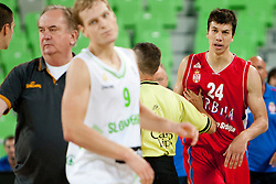 Vladimir Lucic of Serbia during friendly basketball match between National teams of Slovenia and Serbia of Adecco Ex-Yu Cup 2012 as part of exhibition games 2012, on August 5, 2012, in Arena Stozice, Ljubljana, Slovenia. (Photo by Urban Urbanc / Sportida)