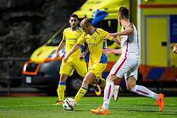 Zeni Husmani of NK Domzale during football match between NK Domzale and FC Lusitanos Andorra in second leg of UEFA Europa league qualifications on July 7, 2016 in Andorra la Vella, Andorra. Photo by Ziga Zupan / Sportida
