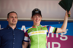 Kirsten Wild (NED) secures the green jersey at Healthy Ageing Tour 2018 - Stage 5, a 94.3 km road race in Groningen on April 8, 2018. Photo by Sean Robinson/Velofocus.com
