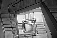 Museum staircase with modern design