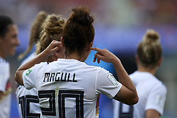 June 29, 2019 - Rennes, France - Lina Magull (FC Bayern Munchen) of Germany celebrates after scoring her sides first goal during the 2019 FIFA Women's World Cup France Quarter Final match between Germany and Sweden at Roazhon Park on June 29, 2019 in Rennes, France. (Credit Image: © Jose Breton/NurPhoto via ZUMA Press)