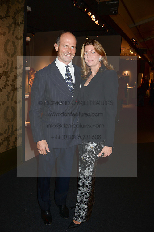 COUNT RICCARDO & COUNTESS COSIMA PAVONCELLI at the PAD Art and Design Fair 2013 Collectors Preview in Berkeley Square, London on 14th October 2013.