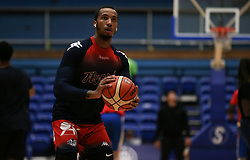 Gentry Thomas of Bristol Flyers during the warm up - Photo mandatory by-line: Arron Gent/JMP - 28/09/2019 - BASKETBALL - Crystal Palace National Sports Centre - London, England - London City Royals v Bristol Flyers - British Basketball League Cup