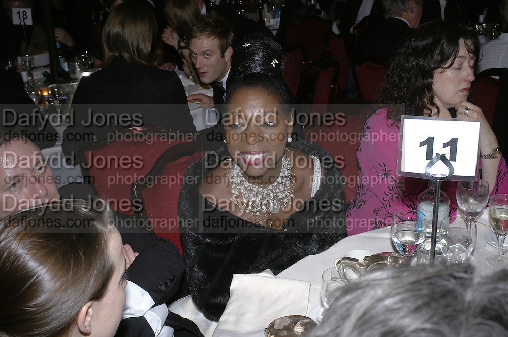 Floella Benjamin,  Costa Book Awards 2006. Grosvenor House Ballroom. Park Lane, London. 7 February 2007. -DO NOT ARCHIVE-© Copyright Photograph by Dafydd Jones. 248 Clapham Rd. London SW9 0PZ. Tel 0207 820 0771. www.dafjones.com.