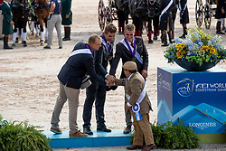 Team BEL, Degrieck Dries, Geerts Glenn, Simonet Edouard, Wentein Mark<br /> World Equestrian Games - Tryon 2018<br /> © Hippo Foto - Dirk Caremans<br /> 23/09/2018
