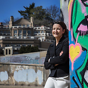 WASHINGTON, DC - MAR23: Executive Director Alison Greenberg of Georgetown Heritage, on the towpath of the Chesapeake and Ohio (C&amp;O) Canal in Georgetown, near the aqueduct which has the potential to be a park-like public space, in Washington, DC, March 23, 2017. Georgetown Heritage the National Park Service, and the <br /> DC Office of Planning are hoping to upgrade the the one mile stretch of the C&amp;O Canal that runs through Georgetown to create a destination experience like the Highline in New York City. (Photo by Evelyn Hockstein/For The Washington Post)