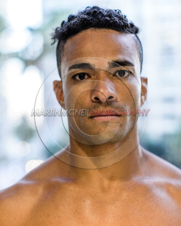 LONG BEACH, CALIFORNIA, OCTOBER 31, 2013: Christiano Souza poses for a portrait inside the Westin hotel in Long Beach, California ahead of their fight at Bellator CVI (© Martin McNeil)