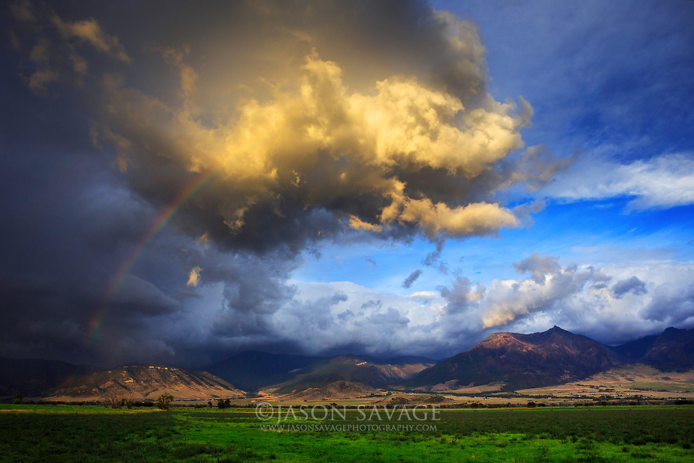 Passing fall storm presents a rainbow in the Paradise Valley near Livingston.