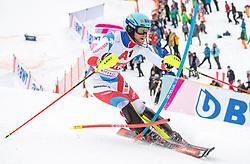 26.01.2020, Streif, Kitzbühel, AUT, FIS Weltcup Ski Alpin, Slalom, Herren, 2. Lauf, im Bild Reto Schmidiger (SUI) // Reto Schmidiger of Switzerland in action during his 2nd run in the men's Slalom of FIS Ski Alpine World Cup at the Streif in Kitzbühel, Austria on 2020/01/26. EXPA Pictures © 2020, PhotoCredit: EXPA/ Johann Groder