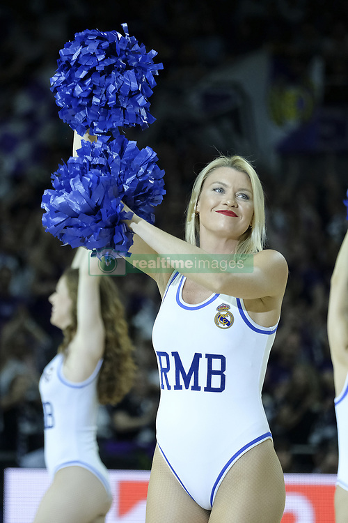 April 27, 2018 - Madrid, Spain - cheerleader of Real Madrid during the 2017/2018 Turkish Airlines Euroleague Play Off Leg Four between Real Madrid v Panathinaikos Superfoods Athens at WiZink Center on April 27, 2018 in Madrid, Spain Photo: Oscar Gonzalez/NurPhoto  (Credit Image: © Oscar Gonzalez/NurPhoto via ZUMA Press)