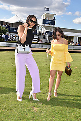 Georgia May Foote and Amal Fashanu at the Laureus polo Cup at Ham Polo Club, Ham, London, England. 21 June 2018.