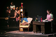 "Samantha Symes, right, a student at School of the Arts in Rochester, performs in ""Percentage,"" a student-written play about bullying, on Tuesday, February 2, 2016."