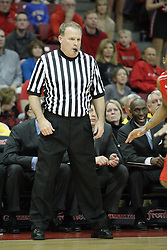 17 February 2013:  referee Gerry Pollard during an NCAA Missouri Valley Conference mens basketball game where the Shockers of Wichita State played the Illinois State Redbirds  in Redbird Arena, Normal IL