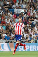 Atletico de Madrid´s Mandjukic during 2014 Supercopa de España `Spain Supercup´ at Santiago Bernabeu stadium. August 19, 2014. (ALTERPHOTOS/Victor Blanco)