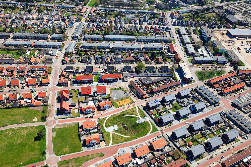 Nederland, Groningen, Gemeente Oldambt,  01-05-2013; Winschoten stadsuitbreiding, noordelijk van het centrum.<br /> Urban development of small provincial town, regional centre (northeast Holland).<br /> luchtfoto (toeslag op standard tarieven);<br /> aerial photo (additional fee required);<br /> copyright foto/photo Siebe Swart