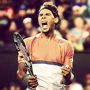 March 8, 2014. Indian Wells, California. Rafael Nadal defeats Radek Stepanek in the second round of the 2014 BNP Paribas Open. (Photo by Billie Weiss/BNP Paribas Open)
