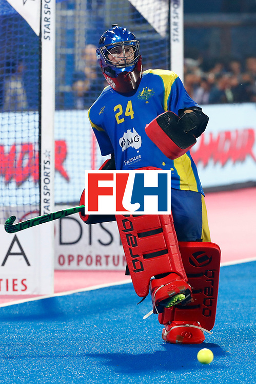 Odisha Men's Hockey World League Final Bhubaneswar 2017<br /> Match id:22<br /> Argentina v Australia<br /> Foto: keeper Tyler Lovell (Aus) <br /> WORLDSPORTPICS COPYRIGHT KOEN SUYK