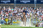 Frank SCHUTTERT (NED) riding LA FILLE ROUGE during the Derby Region Pays de la Loire Competition of the International Show Jumping of La Baule 2018 (Jumping International de la Baule), on May 19, 2018 in La Baule, France - Photo Christophe Bricot / ProSportsImages / DPPI