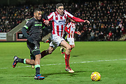 Forest Green Rovers Reuben Reid(26) runs forward during the EFL Sky Bet League 2 match between Cheltenham Town and Forest Green Rovers at Jonny Rocks Stadium, Cheltenham, England on 29 December 2018.