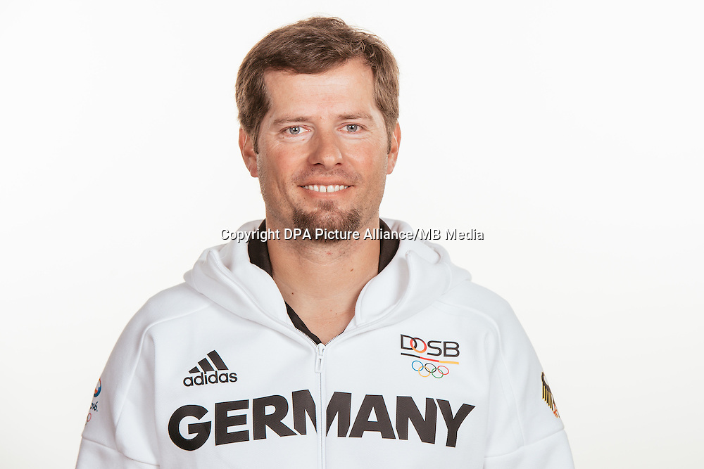 Thomas Piesker poses at a photocall during the preparations for the Olympic Games in Rio at the Emmich Cambrai Barracks in Hanover, Germany, taken on 20/07/16   usage worldwide