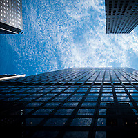 Looking up in New York city.