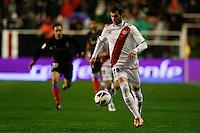 10.02.2013 SPAIN -  La Liga 12/13 Matchday 23th  match played between Rayo Vallecano vs Atletico de Madrid (2-1) at Campo de Vallecas stadium. The picture show Leonardo Carrilho Baptistao (Brazilian player of Rayo Vallecano)