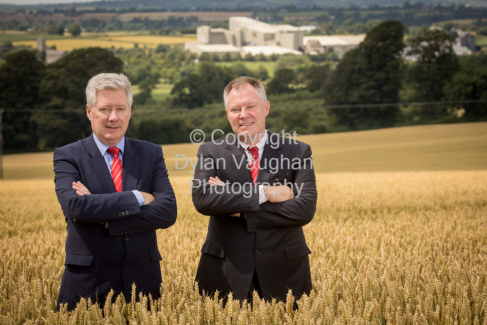 12-7-17<br /> Joe and Bill Connolly of Connolly's Red Mills pictured with the Connolly's Red Mills plant in the background in Goresbridge Co. Kilkenny.<br /> <br /> Picture Dylan Vaughan.