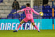 Forest Green Rovers goalkeeper James Montgomery during the EFL Sky Bet League 2 match between Oldham Athletic and Forest Green Rovers at Boundary Park, Oldham, England on 12 January 2019.