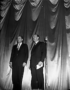 05/02/1960<br /> 02/05/1060<br /> 05 February 1960 <br /> Premiere of Mise Eire at the Regal Cinema, Dublin.  Picture shows Donall Ó Morain, right, Chairman Gael Linn and George Morrison  who directed the film.