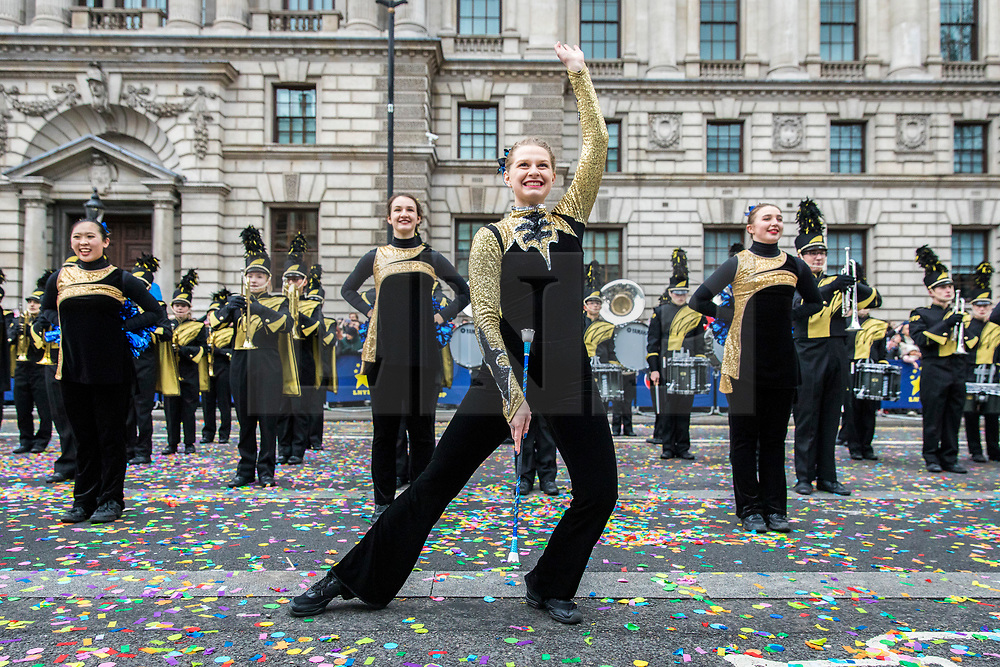 © Licensed to London News Pictures. 01/01/2018. London, UK. The New Year's Day Parade in Central London. Photo credit: Rob Pinney/LNP